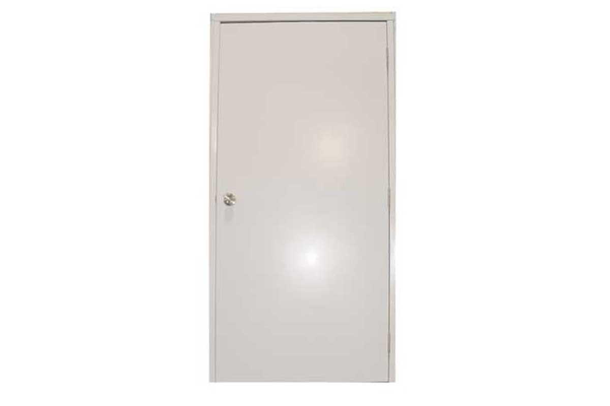 Meridian Mfg. - Porte d'entrée en PVC blanc massif gauche et droite