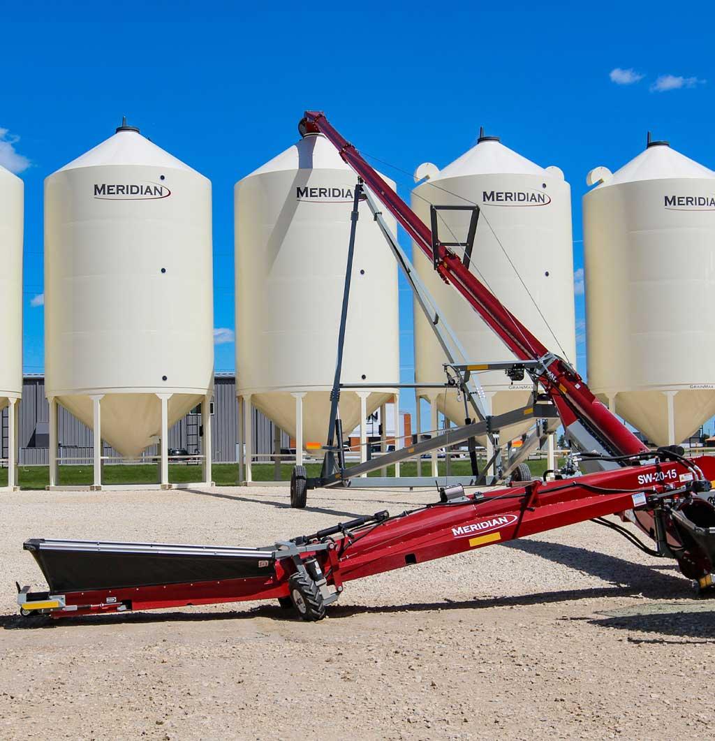 Convoyeurs de remplissage des silos